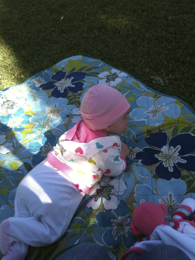 Sweet Little Girl and I hanging out outside.
