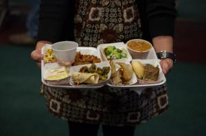 All Nations Banquet food plate: Photo from Fuller Theological Seminary