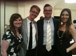 Graduation Banquet with Mark and Brittany