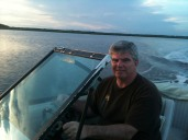 Dad and his boat