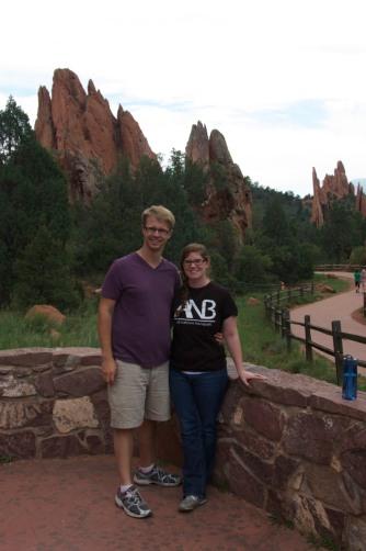 Taking a walk around the Garden of the Gods in Colorado