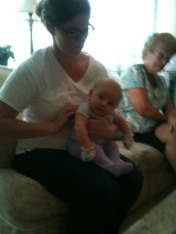 We got to meet our cousin's sweet baby!