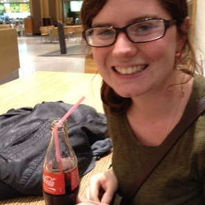 I am having a coke to help with jet lag, trying to stay awake on day 1.