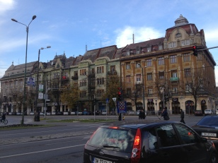 "This is Posta Mare, the ""big post office"", which was to our right. I love the architecture of these buildings."