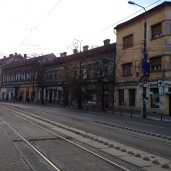 Sfanta Maria tram stop. Waiting for the number 7.
