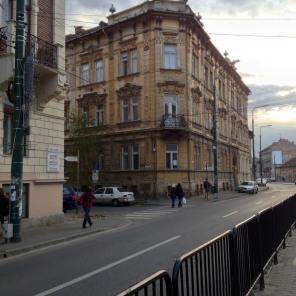 "Our tram stop at Sfanta Maria, or ""saint Mary"""