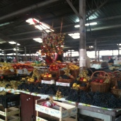 "The ""farmer's market."" I was so excited to find the outdoor market, even though it is cold out."