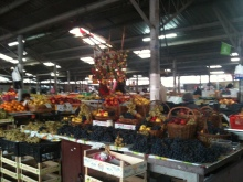 """The """"farmer's market."""" I was so excited to find the outdoor market, even though it is cold out."""