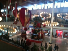 Inside the mall it is decorated for christmas!